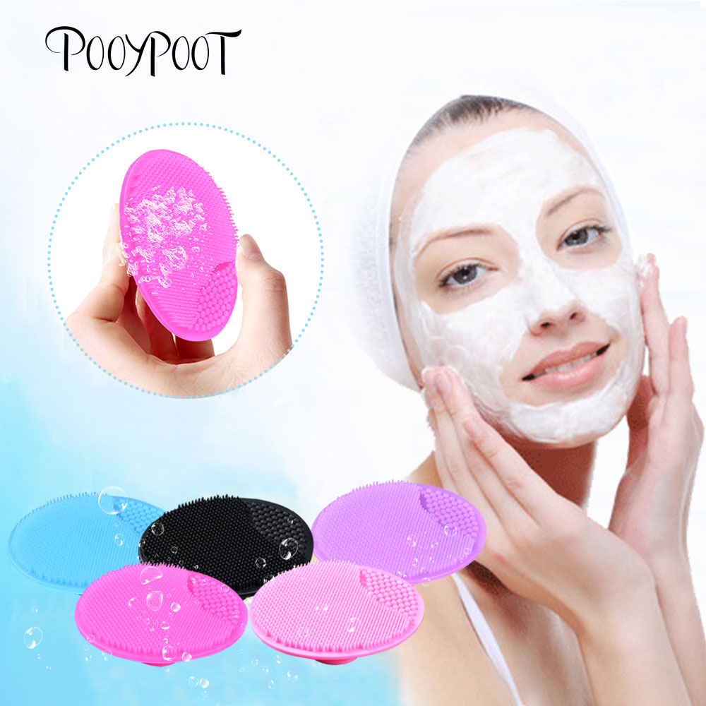 Pooypoot Silicone Cleanser Pads Face Wash Brush Exfoliating Cleansing Blackhead Remover Face Skin Care Tools 5 Colors Available in Face Skin Care Tools from Beauty Health