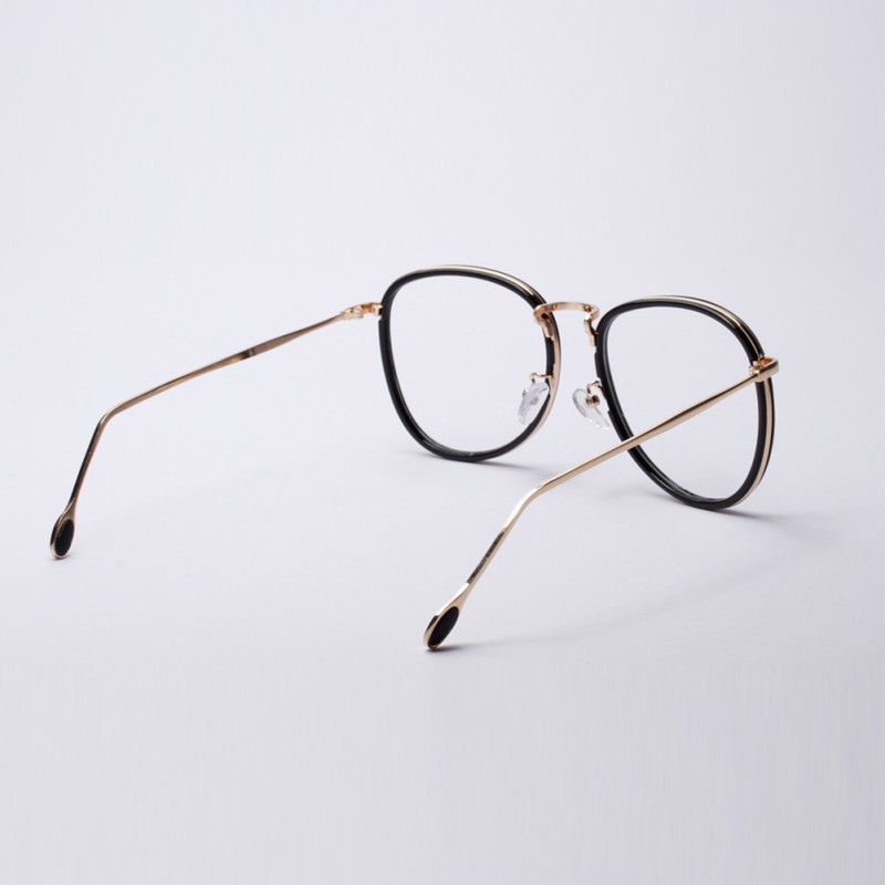 Fashion Frauen Männer Retro Nerd Brille Metallrahmen Klare Linse ...