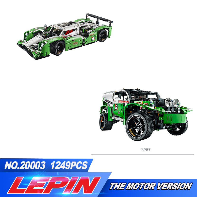 LEPIN 20003 Technic Series The 24 hours Race Car Building Assembling Blocks Bricks 1280 pcs Toys Compatible with 42039 china brand 3364 educational toys for children diy building blocks 42039 technic 24 hours race car compatible with lego