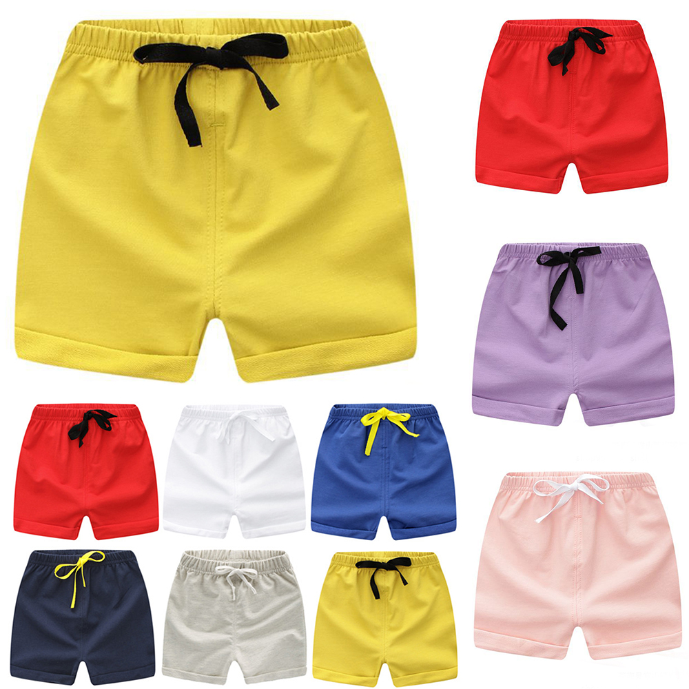 Kids Shorts For 0-2Y Children Summer Clothing Beach Short Jersey Candy Color Girls Boys Pants Clothes A101 Toddler Sport Wear stylish mid waist candy color slimming shorts for women