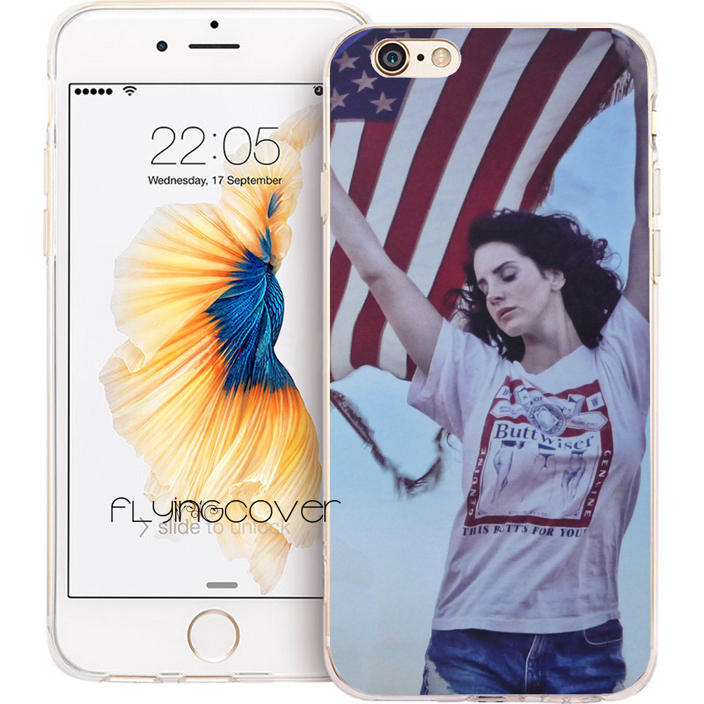 Coque Capa Lana Del Rey Clear Soft TPU Silicone Phone Cover for iPhone X 7 8 Plus 5S 5 SE 6 6S Plus 4S 5C iPod Touch 6 5 Cases.