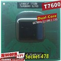 Free Shipping intel CPU laptop Core 2 Duo T7600 CPU 4M Socket 479 Cache/2.33GHz/667 Dual-Core Laptop processor support 945