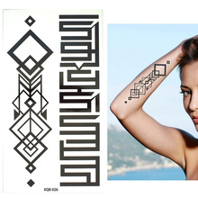 Temporary Black Mehndi Style Waterproof Tattoo Sticker