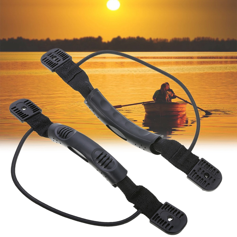 2Pcs / Set Kayak Canoe Handles Boat Side Mount Carry Handle with Bungee DIY Accessories Canoe