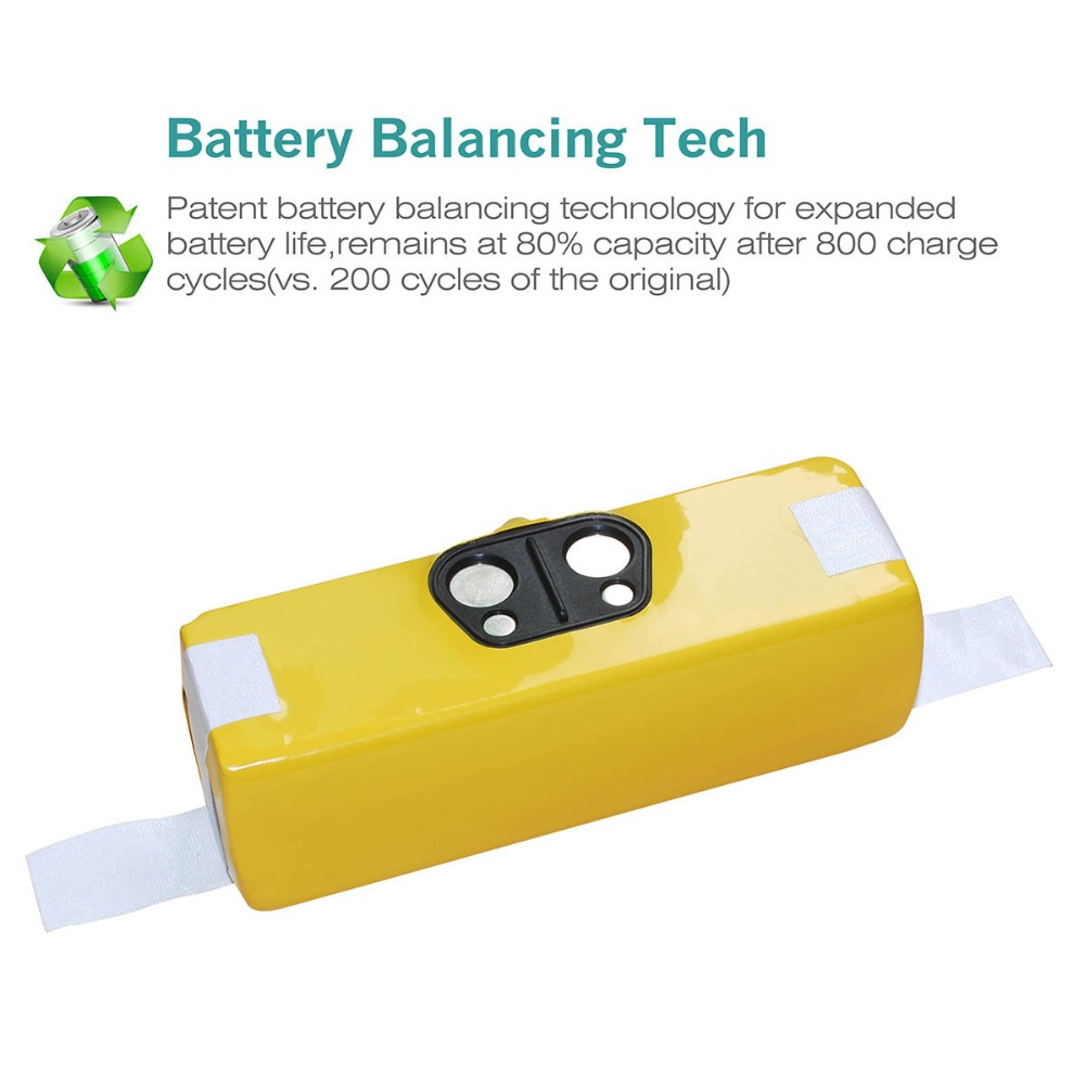 3800mAh 14 4V Ni MH Replacement For iRobot Roomba 500 600