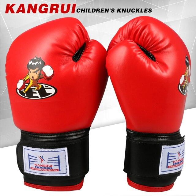 58d94efa8 Crianças crianças dos desenhos animados sparring kick mma luta luvas de boxe  muay thai karate sanda
