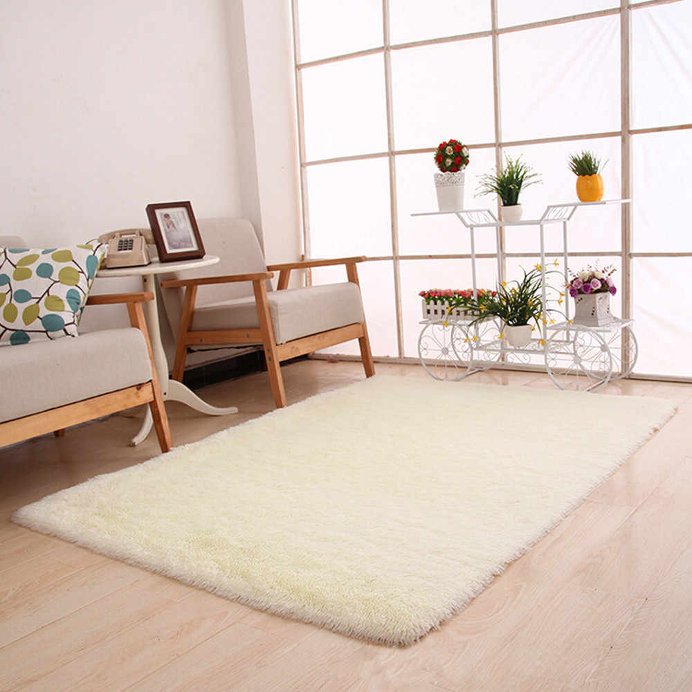 Super Soft Silk Wool Rug Indoor Modern Shag Area Rug Silky Rugs Bedroom Floor Mat Nursery Children carpets for living room F719