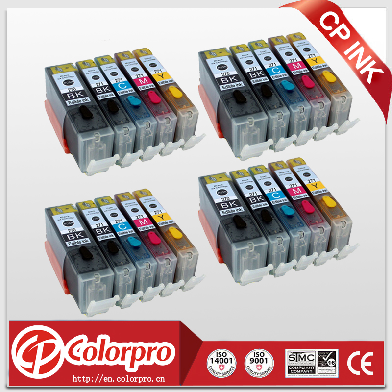 20PK 4BK 4PBK 4C 4M 4Y PGI 270 CLI 271 Edible ink cartridge for Canon PIXMA