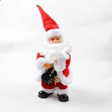 New 12*11*40CM Playing Guitar Singing Electric Santa Claus Toys Christmas Electric Toys Natal Gift For Kids Navidad Decor Party
