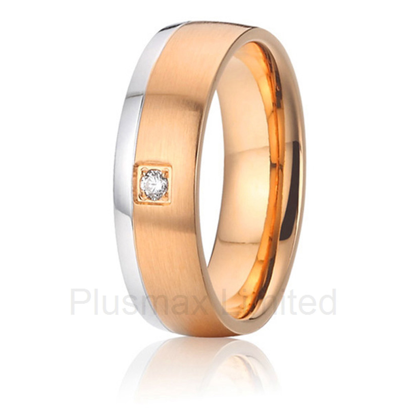 2016 Custom jewelry hot sell men stone bezel setting cz cubic zirconia wedding band rings