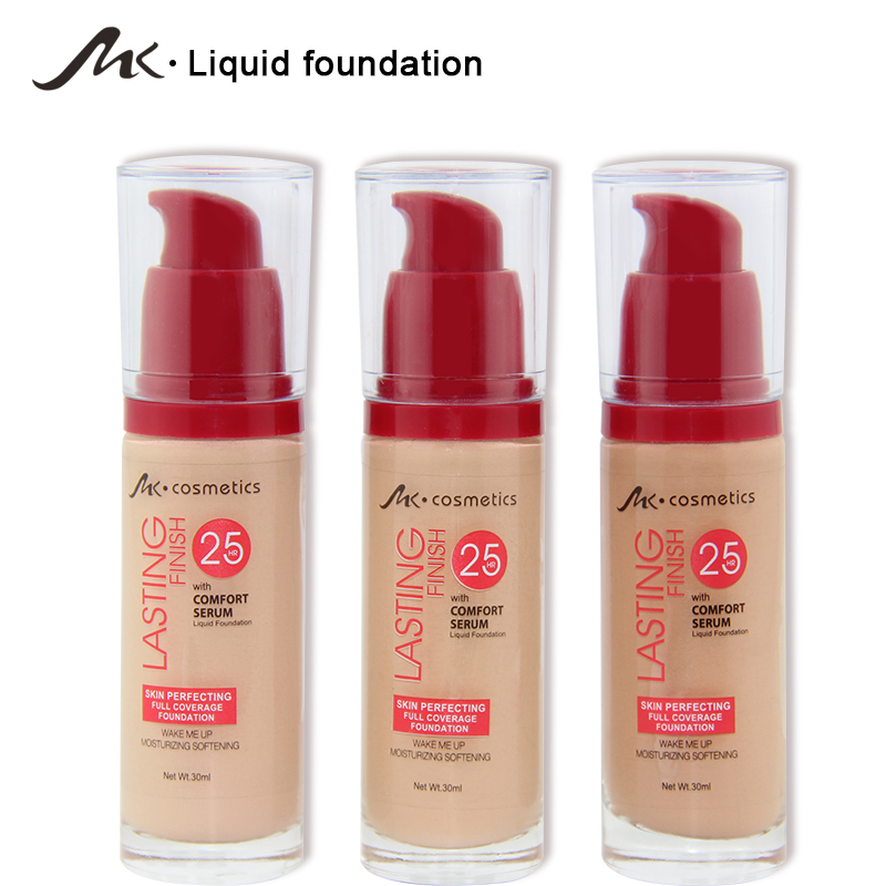 2018 New 3 Colors Make Up Foundation Beauty Waterproof Flawless Coverage Base Cosmetics Liquid Foundation Cream Makeup Primer