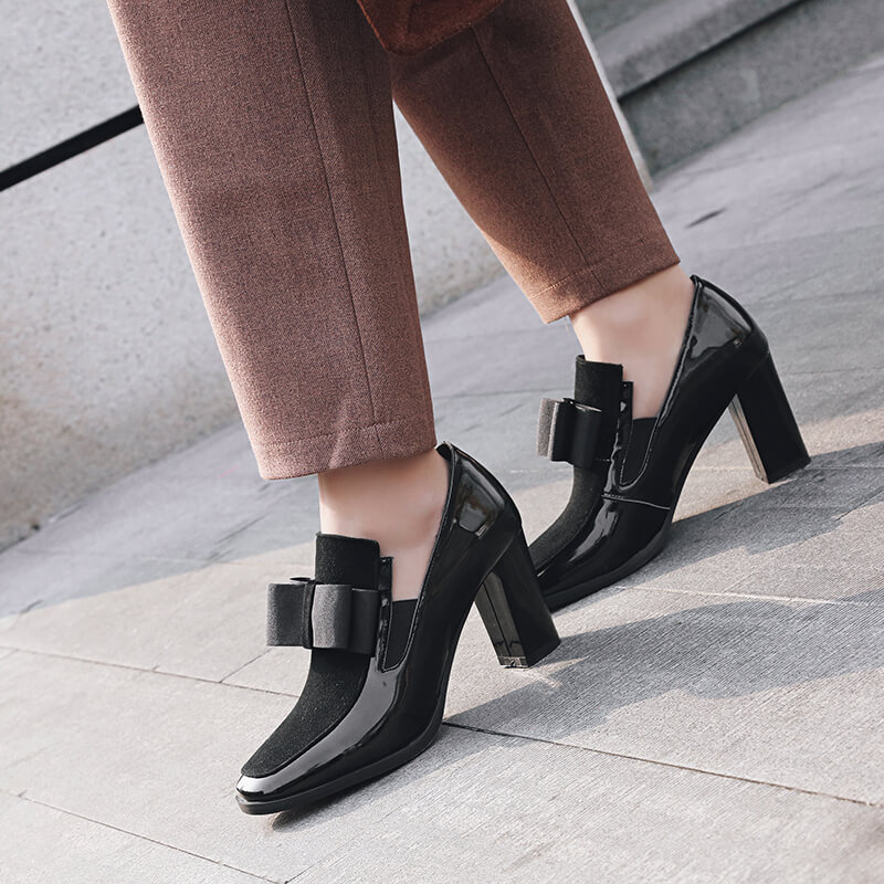 Fashion Bow High Heels Pumps Women