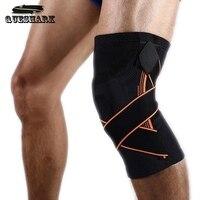 1 unids baloncesto rodillera deportes seguridad fútbol voleibol silicona rodilla cinta rodilla protección de la pantorrilla