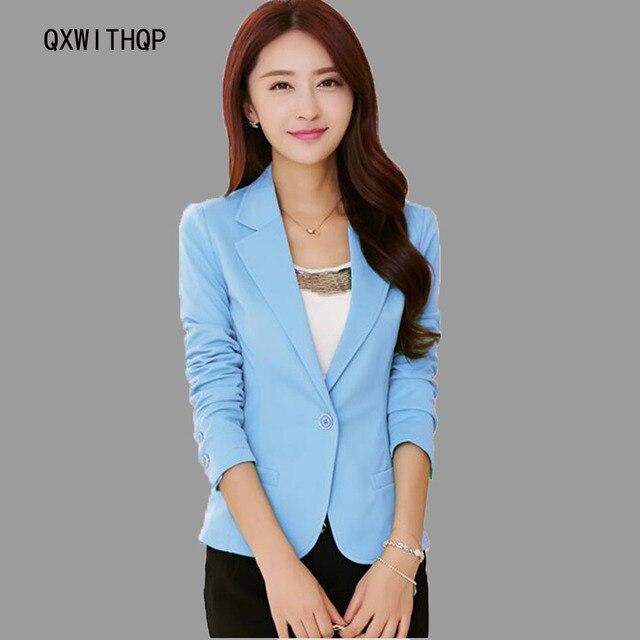 Женский пиджак верхняя одежда 2017 весной и осенью женщин костюм тонкий дизайн женщин blazer синий костюм мода куртка пальто девушки одежда