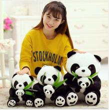 WYZHY Mother and son Panda Parent-child Bamboo Leaf Pillow Dolls Send Childrens Girls Gifts 70CM