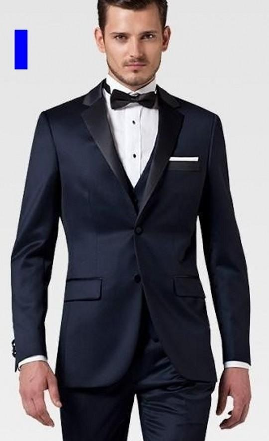 Custom Made Tuxedos Blue Color Men\'s Suits Prom Suits Groomsmen ...
