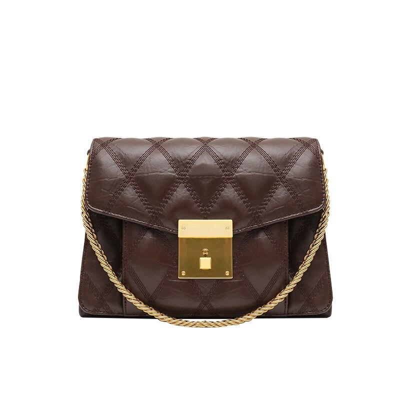 Femmes Portable En Geniune 2019 kaki Cuir Dames Main bourgogne Diamant Mode Belle Bandoulière Noir marron Sacs Vintage Lattica À Noir Téléphone 6EExqwn5