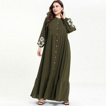 7e870dbfc Ramadán Abaya Dubai árabe Turquía Hijab islámico Maxi musulmana vestido de Kaftan  caftán marroquí Robe Femme Musulman Tesettur Elbise