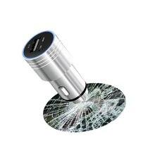 Lonleap Aux Bluetooth Coche Kit Manos Libres Inalámbrico Transmisores de FM Reproductor de MP3 Auto USB Cargador de Emergencia Martillo Piezas de Automóviles