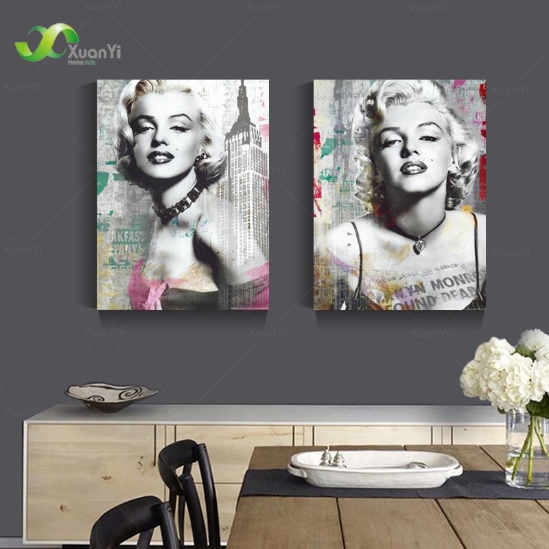 Online buy wholesale andy warhol marilyn monroe painting for Marilyn monroe tattoo canvas