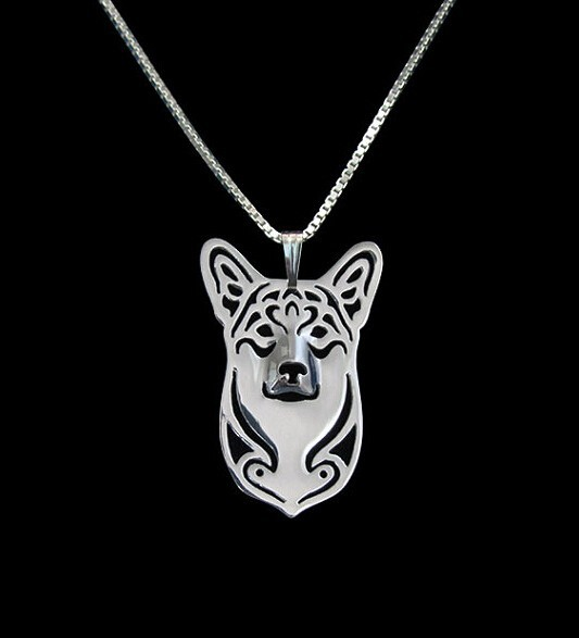 Hot Sale 10pcs cartoon Boho Chic Alloy Pembroke Welsh Corgi necklace Corgi dog pendant jewelry Silver gold colors