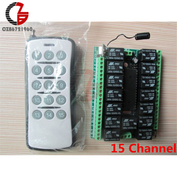 DC 12V 15CH/15 Channel 315MHZ RF Remote Control Transmitter Receiver Module NEW