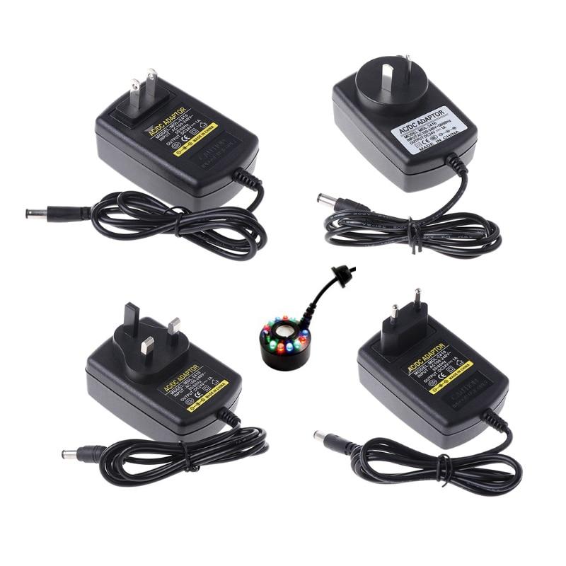 Adapter Charger LED Ultrasonic Mist Maker Light Fogger Water Fountain Pond Power 24V цена и фото