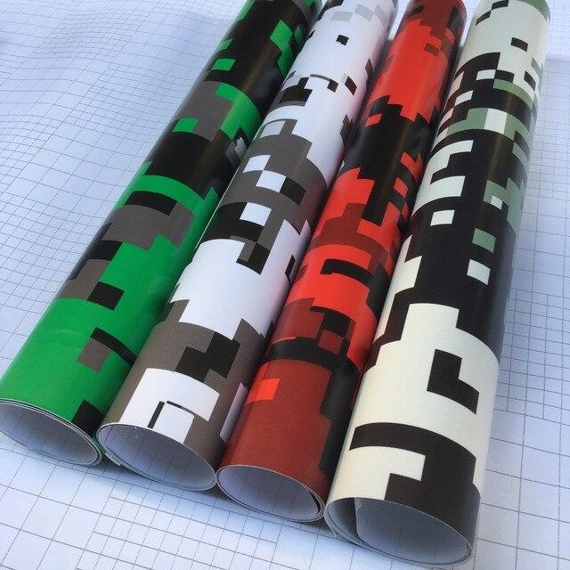 4 colores camuflaje Digital impreso vinilo envoltura motocicleta Scooter pegatina envolver coche DIY estilo Camo lámina de película 50 cm