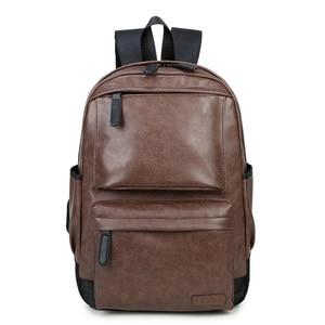 Image 2 - Waterproof Womens bag Schoolbag PU leather Female Male Backpack Fashion Travel a Bag Pack for Teenage Girls Rucksack Mochila
