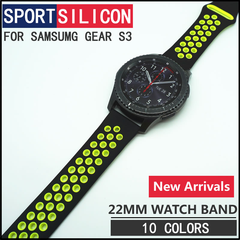Newest 22mm Sports Silicone Bracelet watch strap band For Samsung Gear S3 Classic Frontier watchbands high quality 18 colors rubber wrist strap for samsung gear s3 frontier silicone watch band for samsung gear s3 classic bracelet band 22mm