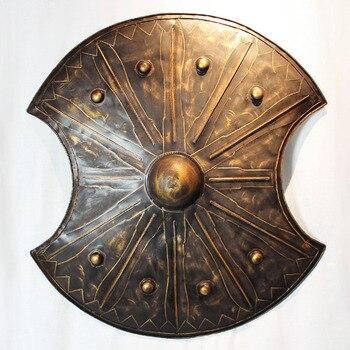 Фотофон в европейском стиле со стильными стенками в стиле ретро, Трой, античные римские щиты, железная настенная панель, ретро ностальгичес...