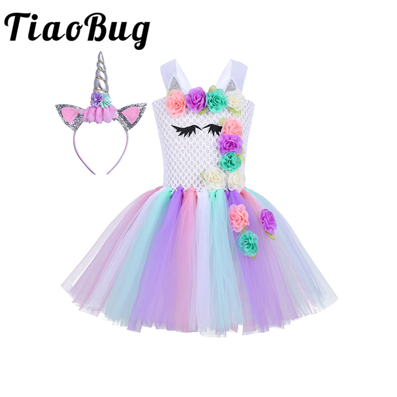 Wedding Party Dress Devoted Tiaobug Flower Girls Dresses For Wedding Party Princess Chiffon Formal Floral Ball Gowns Cosplay Holiday Dress Costume Outfits An Enriches And Nutrient For The Liver And Kidney