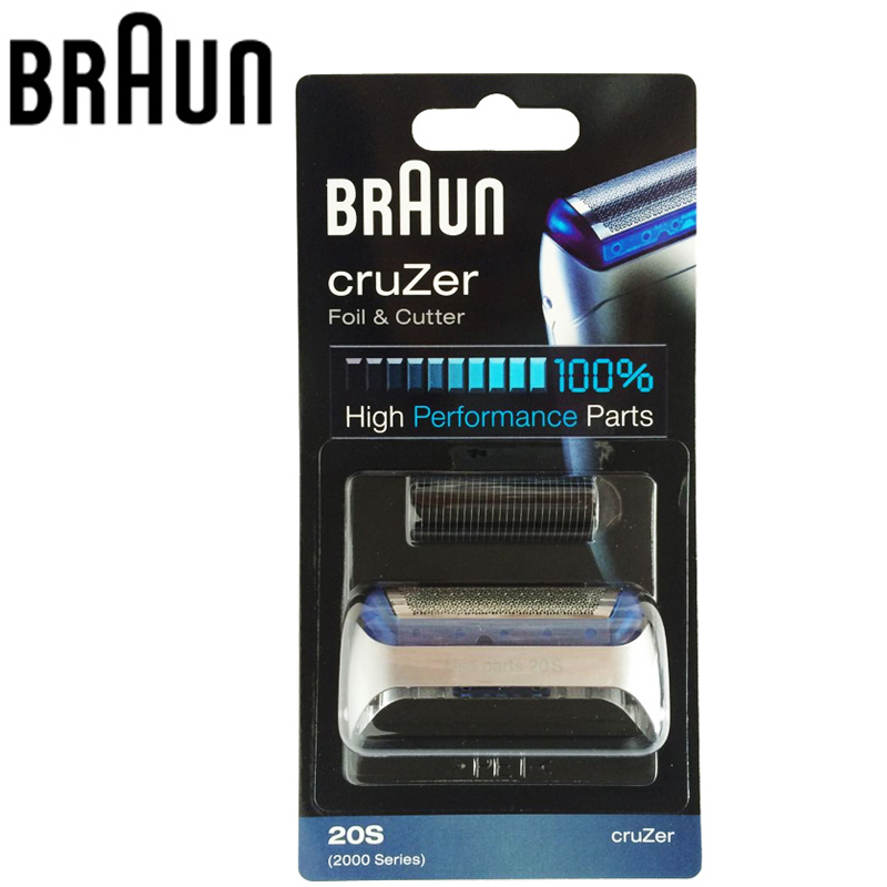 Braun Electric Shaver Blade 20S 2000 Series Foil & Cutter Combi Pack CruZer Shavers 20S Z20 Z30 Z40 2876 5732 Cruzer4 Cruzer5 new 1 x 20s shaver foil and blade for braun 20s 2000 series cruzer 1 2 3 4 for 2615 2675 2775 2776 170 190 free shipping