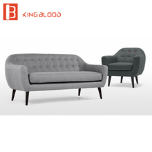 Grey Color fabric upholstery Wooden legs Sofa Designs for Living Room
