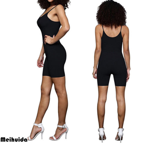 b456fae8936 New Women Summer Ladies Clubwear Shorts Playsuit Bodycon Party Sleeveless  Strap Jumpsuit Short Sexy Romper Trousers Fashion