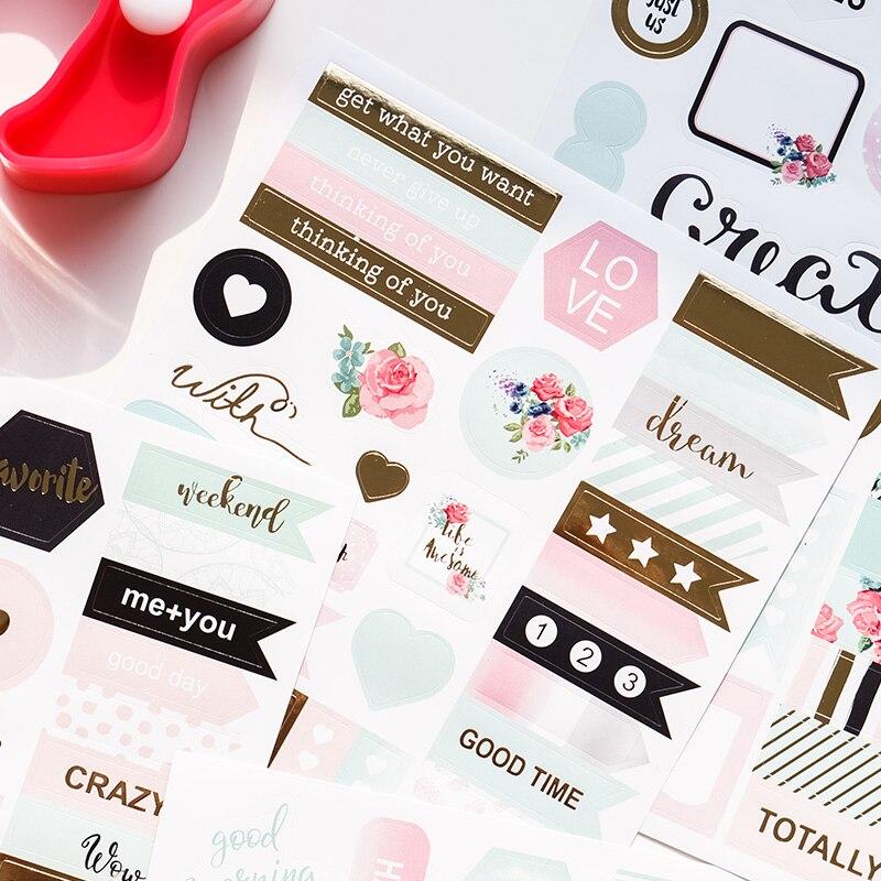 2019 Dokibook Winter Series Creative Sticker Korean Cute Stickers Notebook Planner Album DIY Decorative Stationery Stickers 2pcs