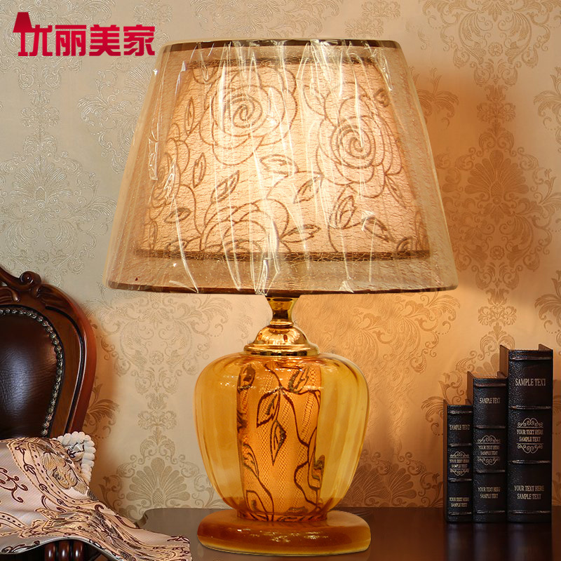 TUDA Table Lamps Contemporary Bedroom Bedside lamp Glass Personality Modern Minimalist Fashion Creative Pattern Decorative lamp bedroom bedside creative fashion minimalist table lamp modern home decorative desk lamp