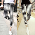 Men Black And White mens casual pants Leggings Zebra Print Vertical Stripe Pants SLIM FIT TROUSERS