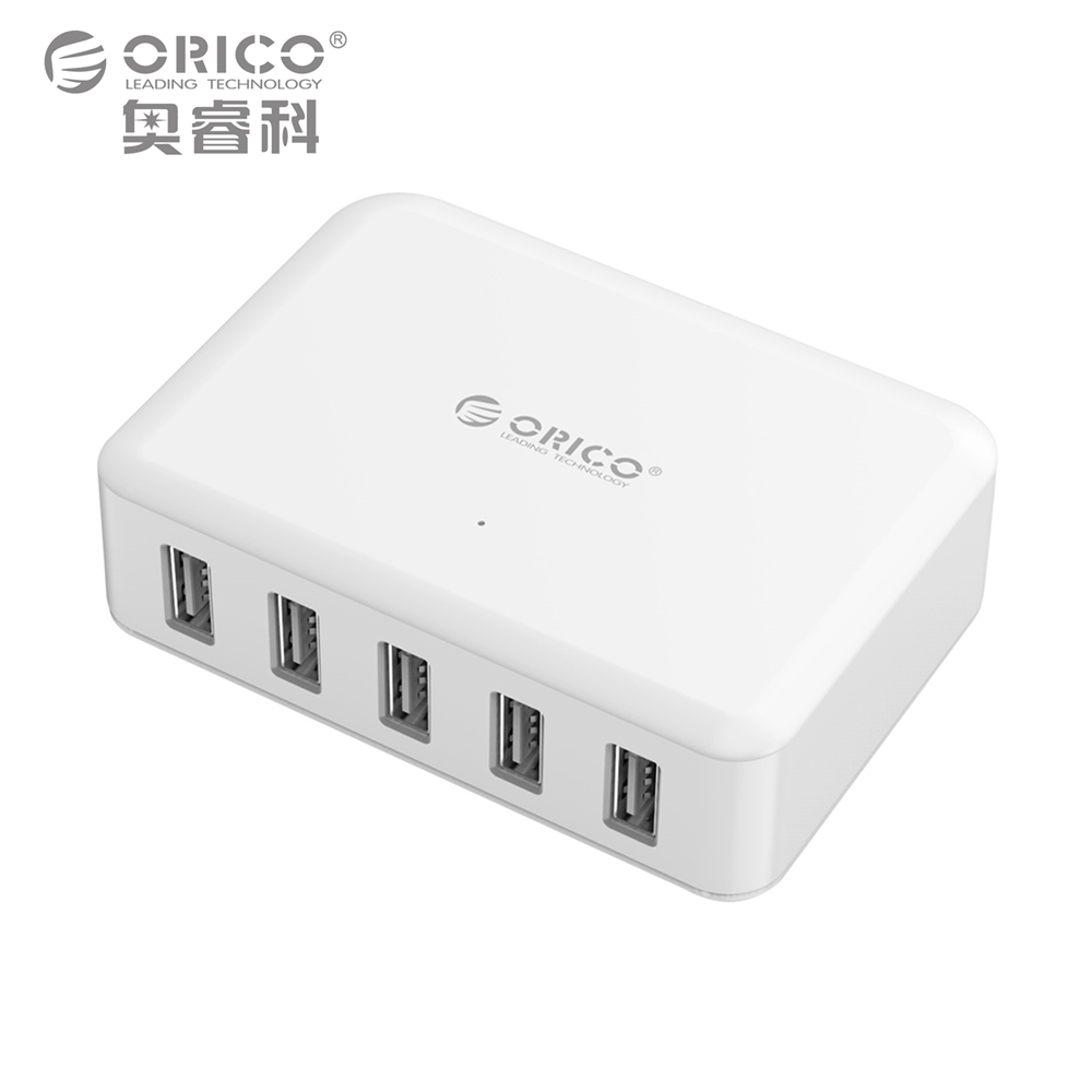 USB Battery Charger,5 Ports 8A40W Phone Tablet Adapter for iPhone 5 6 7 Galaxy S7 Xiaomi Mi 5 HTC 10 Phone Charger