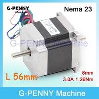 NEMA 23 CNC Stepper Motor 57x56 Nema 23 Stepping Motor 3A 1 2N M Shaft 6
