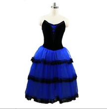 Royal blue Fairy Ballet Long Tutu Dress Women Professional Ballet Tutu Adult Romantic Tutu yellow Ballet Stage Costume Girls royal winnipeg ballet
