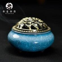 Ceramic small incense burner aromatherapy furnace santalwood hob at home