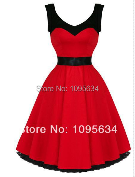 free shipping RED Sailor Girl Nautical DRESS PINUP Swing 50's rockabilly Vintage style S-6XL