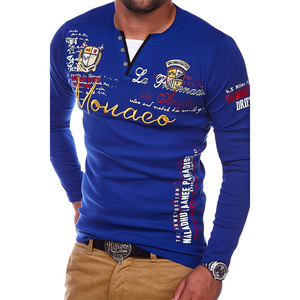 Image 3 - ZOGAA 2018 גברים פולו חולצה מזדמן כותנה מכתב הדפסת טי ארוך שרוול חולצה לגברים אופנת חולצות באיכות מוצק Polos חולצות