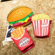 dd9913a46018 Гамбургер картофель узор Crossbody сумки женские сумки цепи сумка  дропшиппинг JULY2(China)