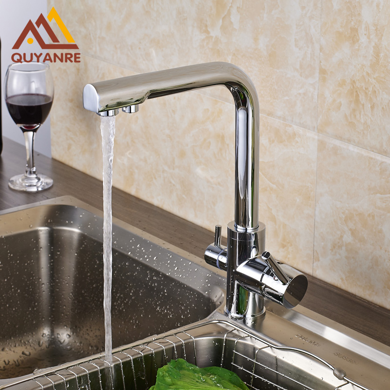 Chrome Polish Pure Water Kitchen Sink Faucet Swivel Spout Purification Mixer Tap Purified Water Outlet
