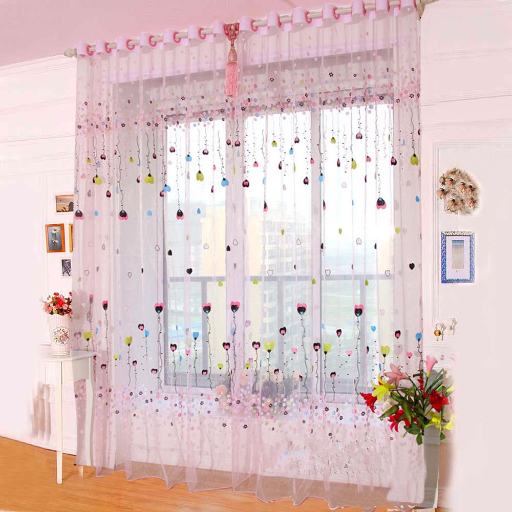 Kids Bedroom Window Curtains - Taotown s home decor voile window curtain kids bedroom living room size 200 100 finished products