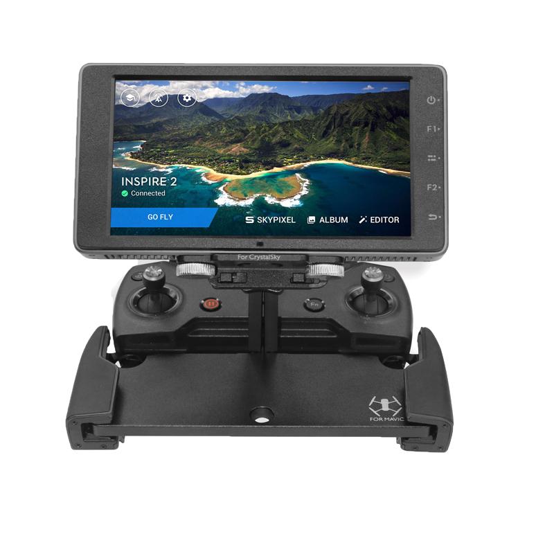Sunnylife Mavic Pro 5.5 7.85 inch CrystalSky Monitor Holder Extension Aluminum Bracket Tablet Mount for DJI Spark Remote Control (4)