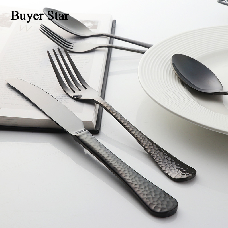 Buyer Star 45-Piece Flatware Set Service For 8 Stainless Steel Cutlery Gold Dinner Service Include Knife Fork Spoon 4 Colors