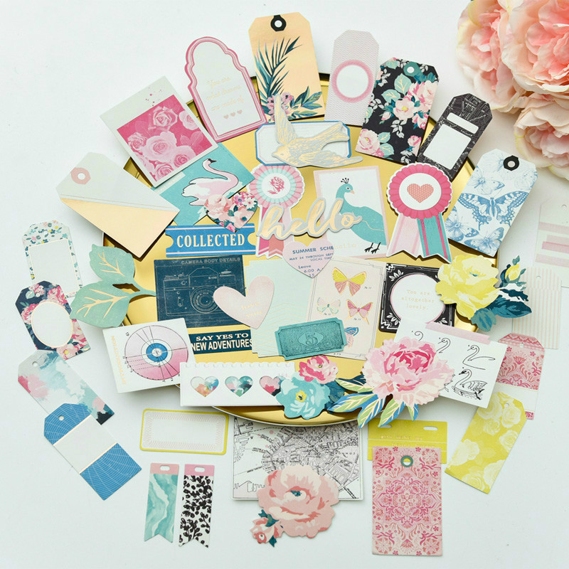 72pcs Japanese Girl/train/guitar Cardstock Die Cuts Stickers For Diy Scrapbooking Happy Planner/card Making/journaling Project Scrapbooking & Stamping